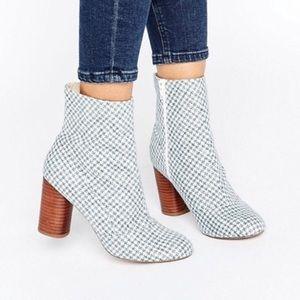 IOB ASOS Emilia Boot Herringbone Size 9 US